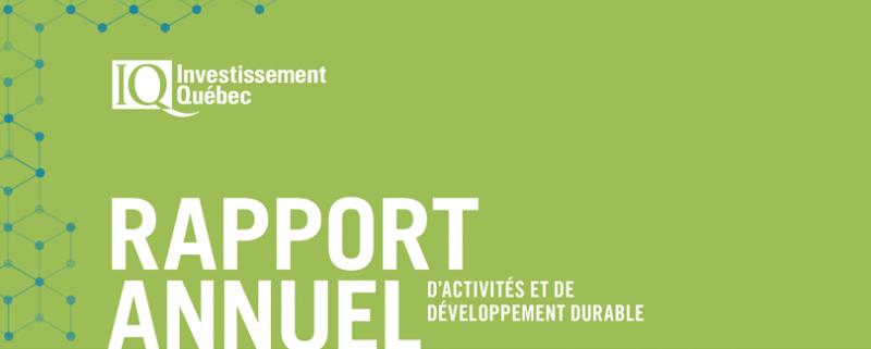 Rapport Annuel d'activité et de développement durable